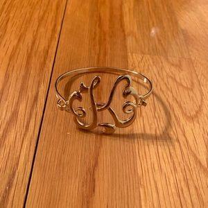 """K"" initial bracelet"